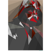 Star Wars Darth Vader Inspired Illustrative Art Print - 11.7 x 16.5 Inches