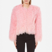 Charlotte Simone Women's Classic Fuzz Jacket - Pink - S/M