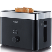 Graef TO62.UK 2 Slice Compact Toaster - Black