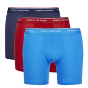 Tommy Hilfiger Men's 3 Pack Premium Essentials Boxer Briefs - Peacoat/Brilliant Blue/Samba