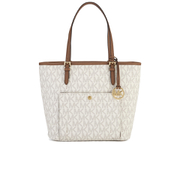 MICHAEL MICHAEL KORS Large Top Zip Pocket Tote Bag - Cream