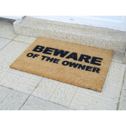 Beware of the Owner Doormat