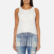 Superdry Women's Vintage Fringed Tank Top - Off White