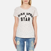 Maison Scotch Women's Wish Upon A Star Short Sleeve T-Shirt - White