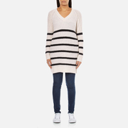 Maison Scotch Women's Home Alone Oversized V-Neck Jumper - White