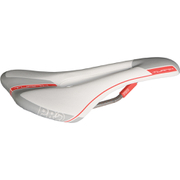 Pro Turnix Saddle Hollow Ti Rails - 132 mm Wide - Anatomic Fit - White/Grey/Red