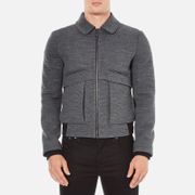 Carven Men's Zipped Blouson Jacket - Gris Grenat