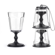 Stackable Wine Glasses - Black