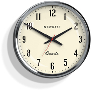 Newgate Mechanic Wall Clock - Chrome