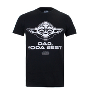 Star Wars Mens Yoda Best Dad T-Shirt - Zwart