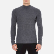 HUGO Men's Smud Ribbed Jumper - Grey