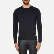 HUGO Men's Seiko Biker Detail Jumper - Navy