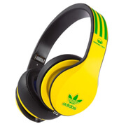 adidas Originals by Monster Headphones (3-Button Control Talk & Passive Noise Cancellation) - Yellow/Green/Black