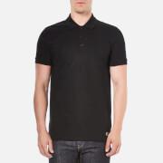 Versace Collection Men's Collar Detail Polo Shirt - Black