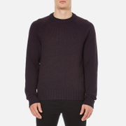rag & bone Men's Wyatt Crew Neck Sweatshirt - Burgundy