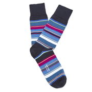 Paul Smith Accessories Men's Multi Stripe 3 Pack Socks - Blue Multi