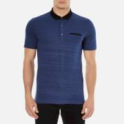 HUGO Men's Desaro Contrast Collar Polo Shirt - Royal Blue