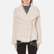 Vero Moda Women's Jayla Short Fake Fur Jacket - Moonbeam