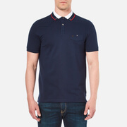 Luke 1977 Men's Airbright Collar Detail Polo Shirt - Marina Navy