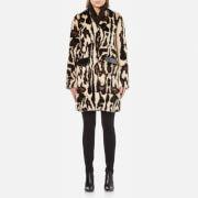Carven Women's Faux Fur Leopard Coat - Multi