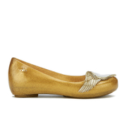 Mini Melissa Vivienne Westwood Kids' Ultragirl Cherub Ballet Flats - Gold Glitter