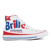 Converse Chuck Taylor All Star Warhol Hi-Top Trainers - White/Red/Blue