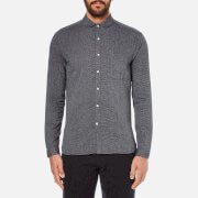 Oliver Spencer Men's Eton Collar Shirt - Lupin Charcoal