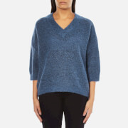 Selected Femme Women's Liva 3/4 Sleeve Jumper - Dutch Blue