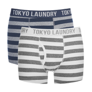 Tokyo Laundry Men's 2-Pack Yass Boxers - Optic White/Mid Grey Marl