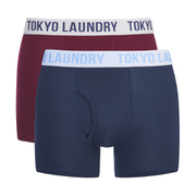 Tokyo Laundry Men's 2-Pack Cairns Boxers - Oxblood RP/Vintage Indigo