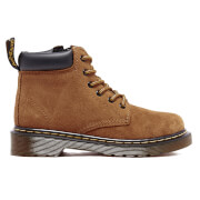 Dr. Martens Kids' Padley J Suede Padded Collar Lace Boots - Tan