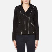Selected Femme Women's Sanella Suede Jacket - Black
