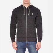 Polo Ralph Lauren Men's Zip Through Hooded Athletic Fleece - Black Marl Heather