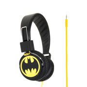 Batman Classic The Dark Knight Folding On-Ear Headphones - Yellow Logo