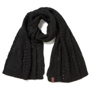 Superdry Women's North Cable Scarf - Black