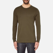 Universal Works Men's Long Sleeve Pocket Military T-Shirt - Olive