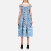 Three Floor Women's Glossier Collar Dress - Ink Blue/Opal Air/White
