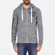 Superdry Men's Trackster Zip Hoody - Flint Grey Grit