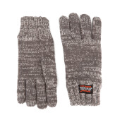 Superdry Men's Super Cable Gloves - Grey Granite Twist