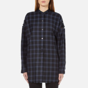 Helmut Lang Women's Shoulder Tab Oversized Shirt - Navy Melange