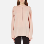 Helmut Lang Women's Back Tie Silk Blouse - Blush