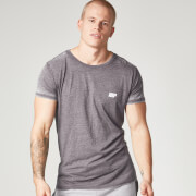 Burnout T-shirt - Denim Blauw