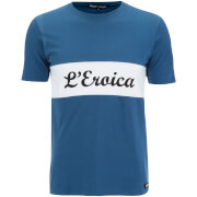 Santini L'Eroica Stretch Cotton T-Shirt - Dark Blue
