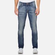 Nudie Jeans Men's Grim Tim Straight/Slim Fit Jeans - Dark Crispy Worn