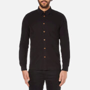 Folk Men's Textured Long Sleeve Shirt - Charcoal