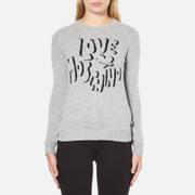 Love Moschino Women's Slogan Jumper - Grey Melange