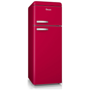 Swan SR11010RN Retro Top Mounted Fridge Freezer - Red