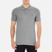 Lyle & Scott Men's Short Sleeve Polo Shirt - Mid Grey Marl