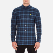 Lyle & Scott Men's Check Flannel Long Sleeve Shirt - Navy