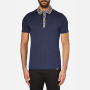 Pretty Green Men's Stretford Paisley Collar Polo Shirt - Navy
